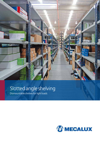 Slotted-angle shelving
