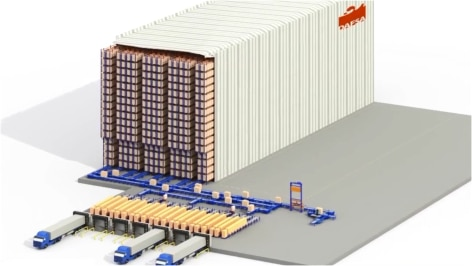 Mecalux builds a clad-rack automatic warehouse ready for the future