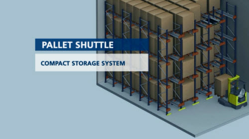 Pallet Shuttle: Semi-automated compact storage