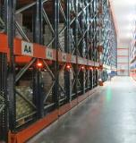Frozen storage chamber in South Africa features Movirack mobile pallet racks by Mecalux