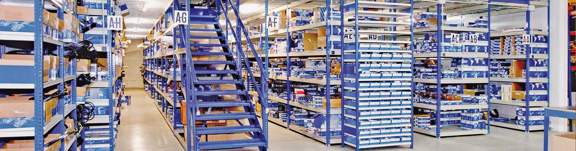 Metal Point shelving boltless system