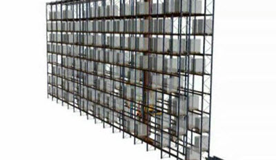 Single-deep stacker crane: a single cycle