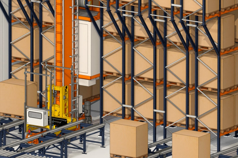 Industrias Yuk will build an automated warehouse for pallets and one for boxes