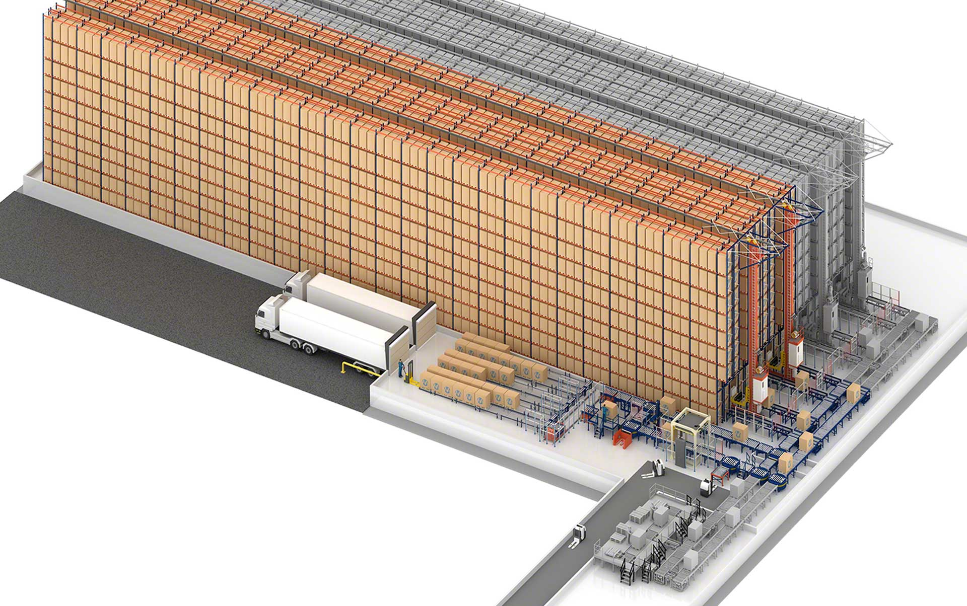 Sabarot's automated warehouse in France with capacity for 6,376 pallets