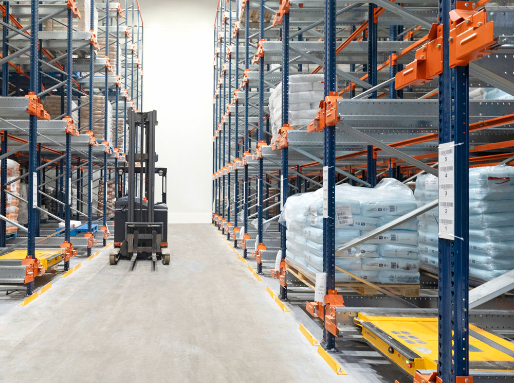 The Pallet Shuttle is an ideal solution for warehouses with SKUs and up to eight metres in height