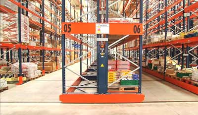 Case study mobile pallet racking Movirack: Havi Logistics